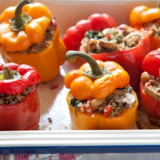 Roasted Bell Peppers Stuffed with Quinoa.
