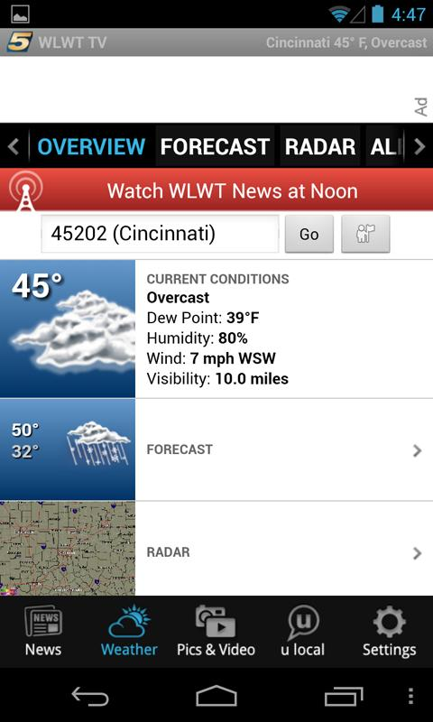 WLWT Cincinnati news, weather - screenshot