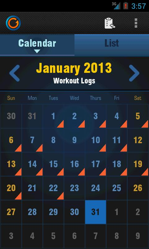 Gymprovise Gym Workout Tracker- screenshot