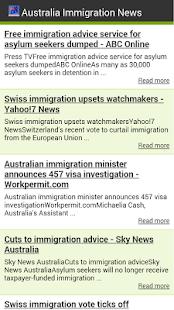 Australia Immigration News - screenshot thumbnail