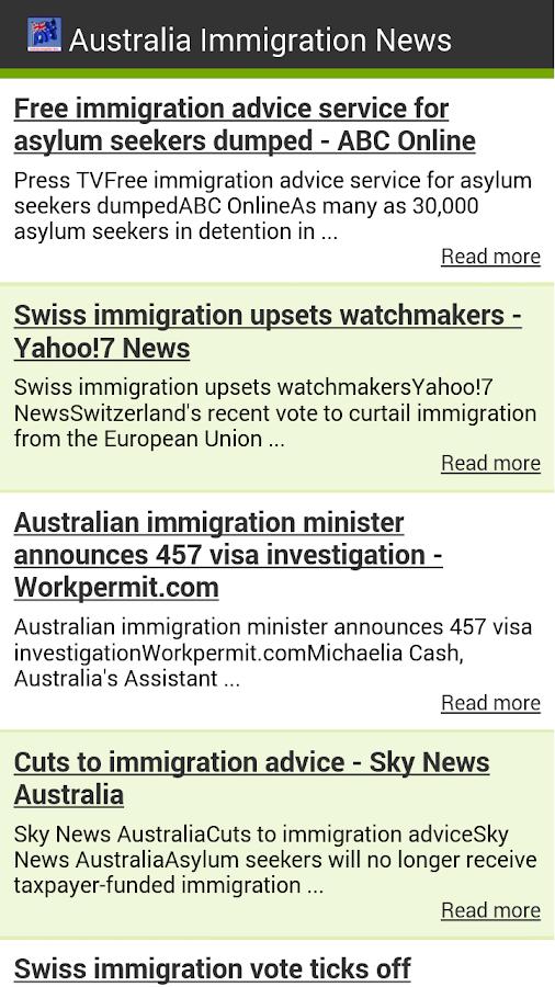 Australia Immigration News - screenshot