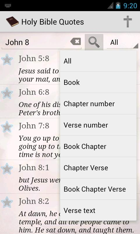 Holy Bible Quotes WEB - screenshot