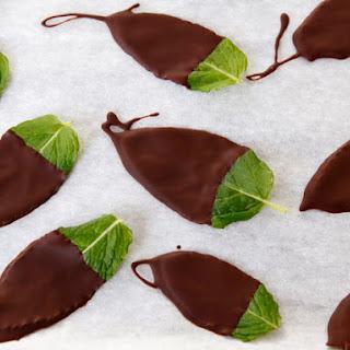 Dark Chocolate Mint Leaves