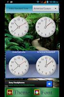 Screenshot of WorldClock Widget