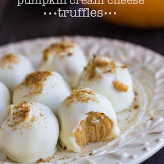 Pumpkin Cream Cheese Truffles.