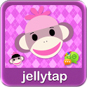 Sock Monkey Purple SMS Theme icon
