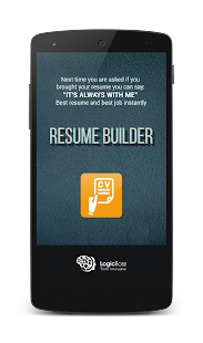 resume builder screenshot thumbnail - Free Resume Builder App For Android