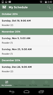 Ministry Scheduler Pro- screenshot thumbnail