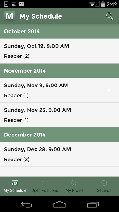 Ministry Scheduler Pro- screenshot