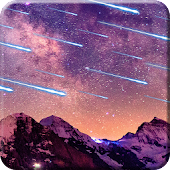 Meteors Sky Live Wallpaper HD