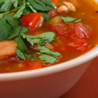 Chicken and Tomatillo Soup.
