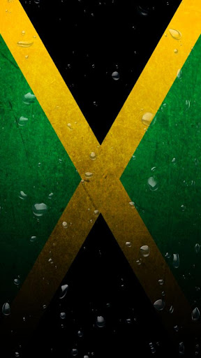 Jamaica flag water effect