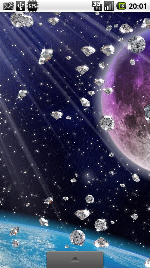 Rain of Diamonds LiveWallpaper- screenshot