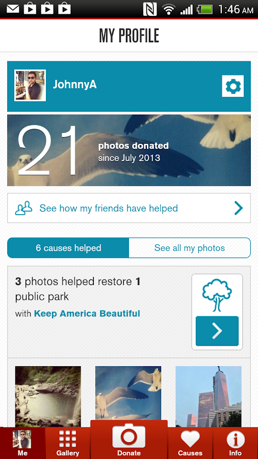 Donate a Photo for charity - screenshot