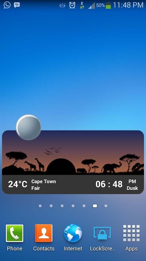 Metro Clock & Weather Full - screenshot