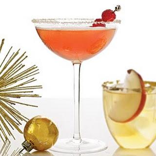 Peach Melba Cocktail.