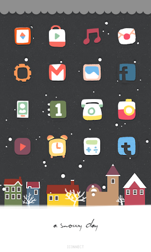 snowy day icon theme