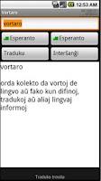 Screenshot of Vortaro