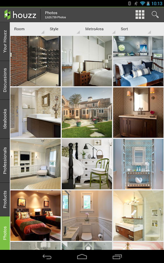 Houzz interior design ideas screenshot for Interior design apps