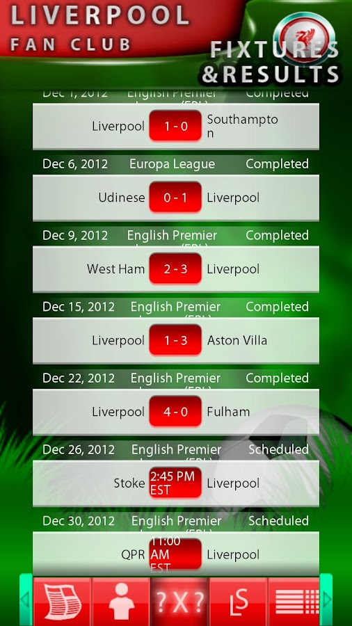 Liverpool Fan Club - screenshot