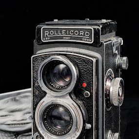 Old camera by Vibeke Friis - Artistic Objects Industrial Objects ( old, camera, rolliecord,  )