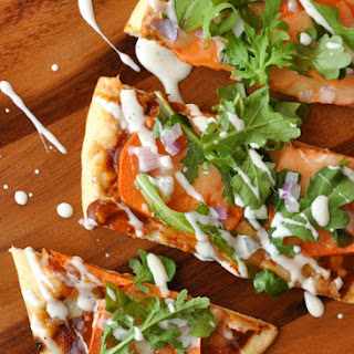 Barbecue Ranch Sweet Potato Pizza.