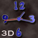 3D Blue Plastic Clock
