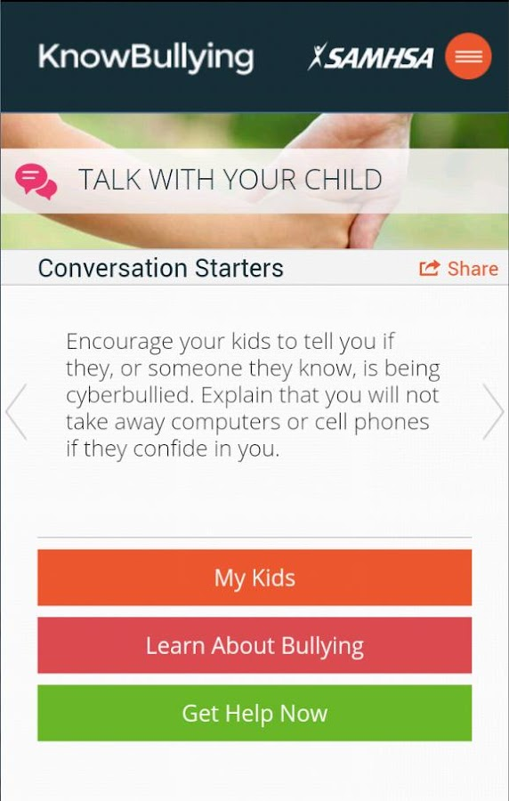 KnowBullying by SAMHSA- screenshot