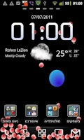 Screenshot of gClock Live Wallpaper LITE