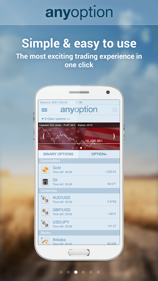 anyoption - Binary Options - screenshot