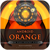 orange  clock  desktop clock