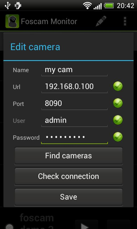 Foscam Monitor - screenshot