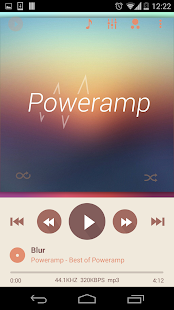 Poweramp skin 2in1 Flat Autumn - screenshot thumbnail