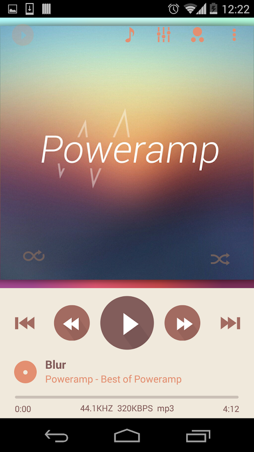 Poweramp skin 2in1 Flat Autumn - screenshot