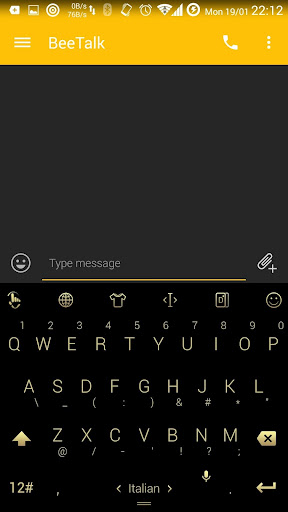 Theme TouchPal Flat Black Gold