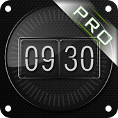 Glass clock. widget. BOX. PRO