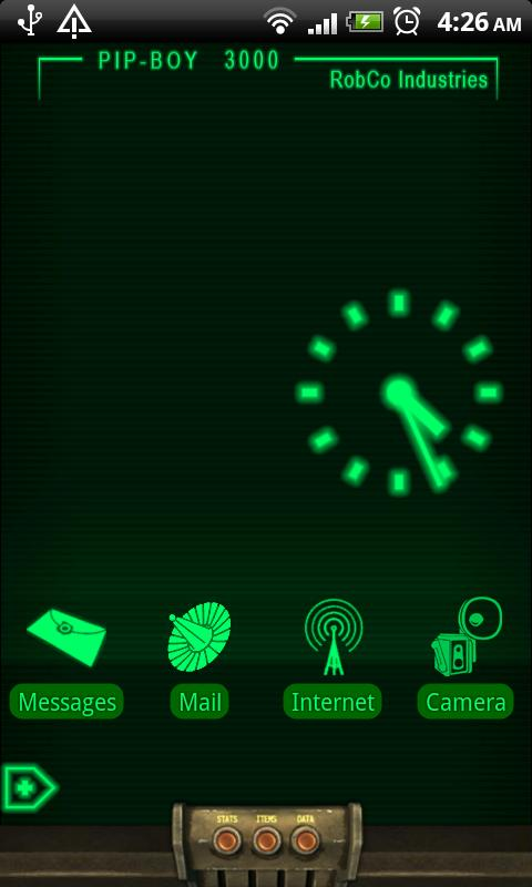 PipBoy 3000 Live Wallpaper - screenshot