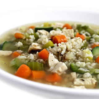 Chicken, Brown Rice and Vegetable Soup