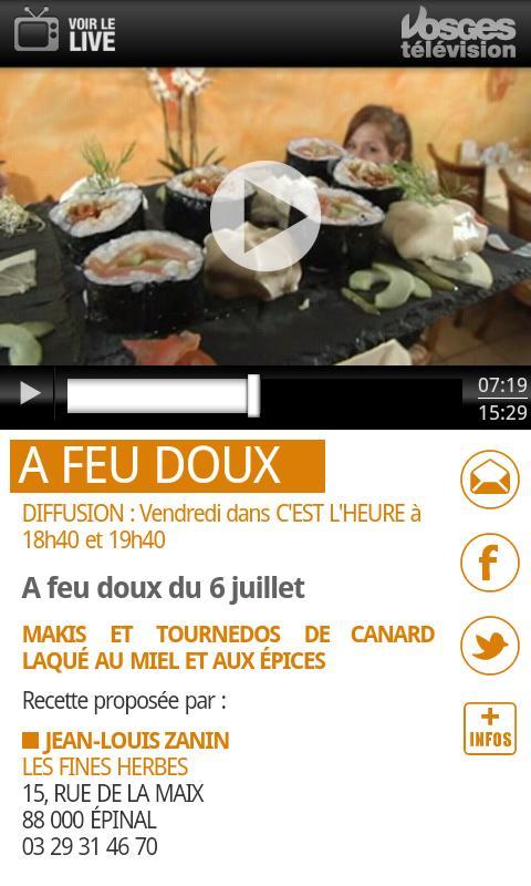 Vosges Télévision - screenshot