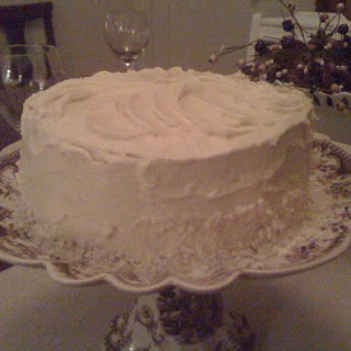 Pistachio Cake With White Chocolate Buttercream.