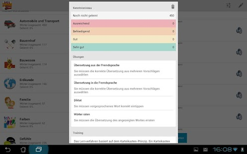 Englische Vokabeln lernen PRO- screenshot thumbnail