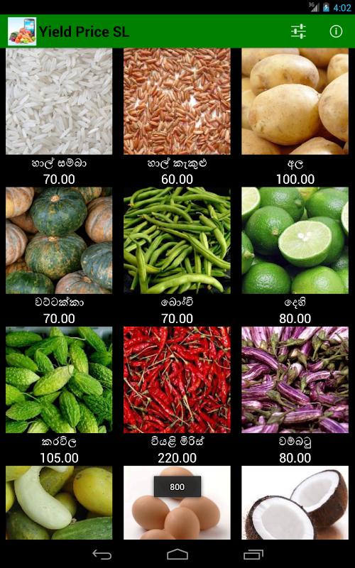 Yield Price Sri Lanka APK Latest Version Download - Free
