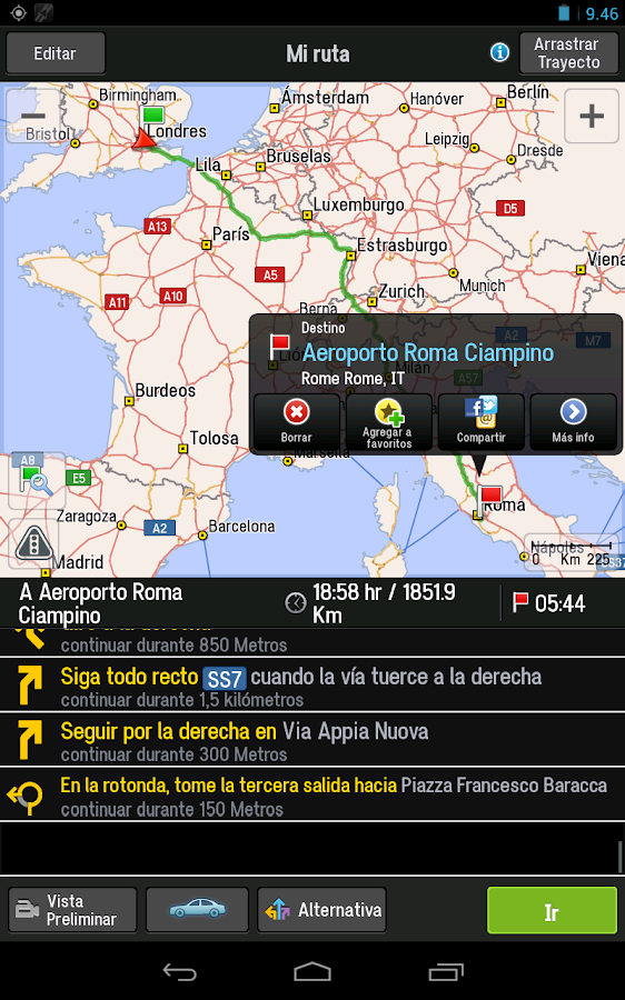 CoPilot Premium w. Europe - screenshot