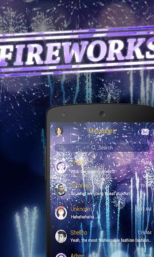 FREE GO SMS FIREWORKS THEME