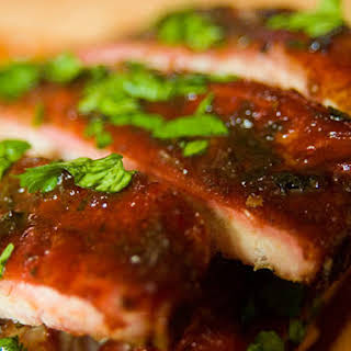 Cherry-Smoked Vietnamese-Flavored Ribs.