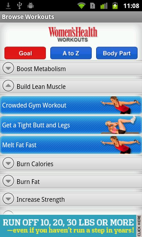Women's Health Workouts Lite- screenshot