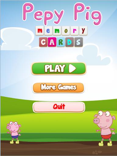 Pepy Pig Cards Memory Game