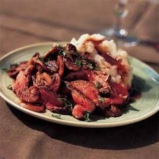 Beef with Rosemary-Mushroom Sauce.