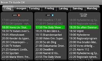 Screenshot of Boxer TV Guide DK