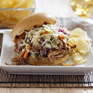 Crock Pot Teriyaki Pulled Pork With Sesame Slaw